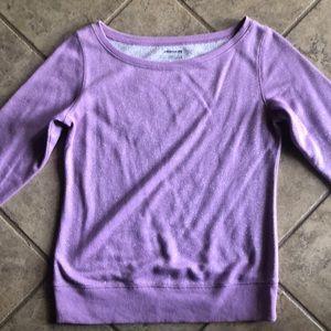 Tops - Purple glitter sweatshirt